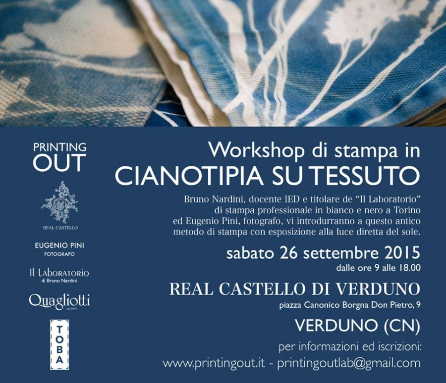 Workshop di cianotipia su tessuto
